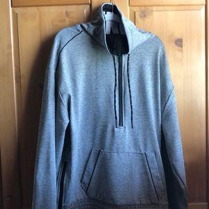 Half zipper up hoodie